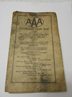 VINTAGE AAA Condensed Road Map Lake Erie 499 PicClick