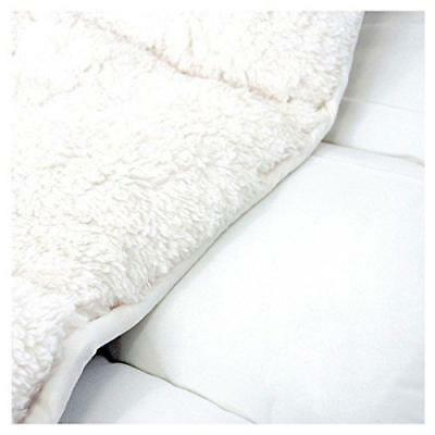 Luxury Super Soft Teddy Sherpa Fleece Mattress Topper Enhancer