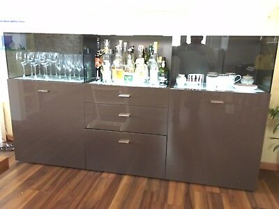 Now By Hulsta No 14 Sideboard Mit Glasaufsatz Und Led Boden