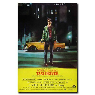 Taxi Driver 24x36inch Robert De Niro 1976  Movie Silk Poster Wall Decoration
