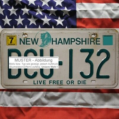 -1- NEW HAMPSHIRE Nummernschild # US Autokennzeichen # (Optional USA Deko Tuch)
