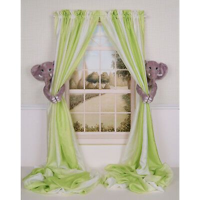 Curtain Critters High End Baby Nursery Jungle Safari Elephant Curtain Tie Backs
