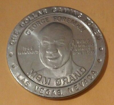 Mgm Grand Casino Las Vegas, Nv. George Foreman $1.00 Token Great For Collection!