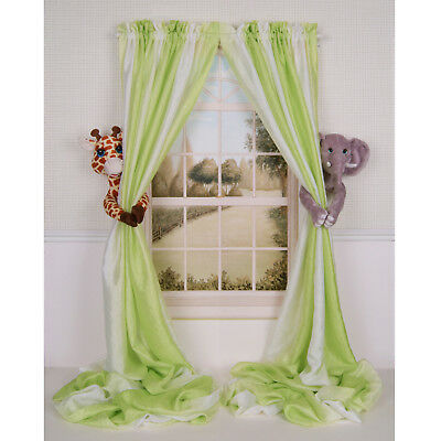 Curtain Critters Jungle Safari Giraffe & Elephant Curtain Tie Back Collector Set