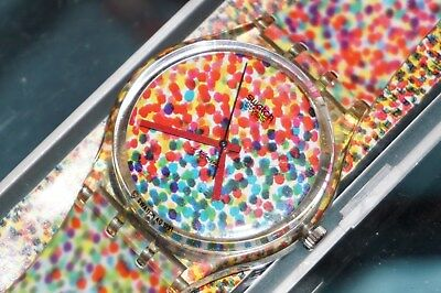 SWATCH Collectores of Swatch GZ 121 Lots of Dots Design Limited Edition 1992