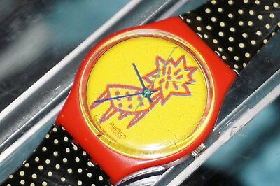 SWATCH GR 115 Dotchair Sunday Brunch Armbanduhr 1992 Uhr