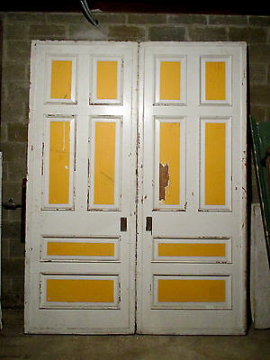 ~ Antique Set Of Victorian Pocket Doors 84 X 113 ~Architectural Salvage