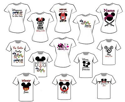 Disney Trip Iron On T Shirt Transfer Lots Of Designs Some Personalised