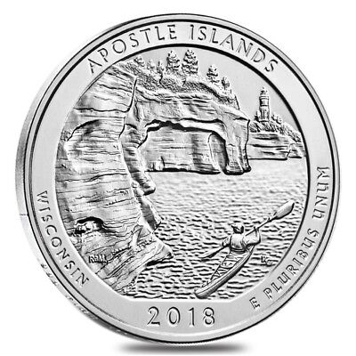 2018 5 oz Silver America the Beautiful ATB Wisconsin Apostle Islands Lakeshore