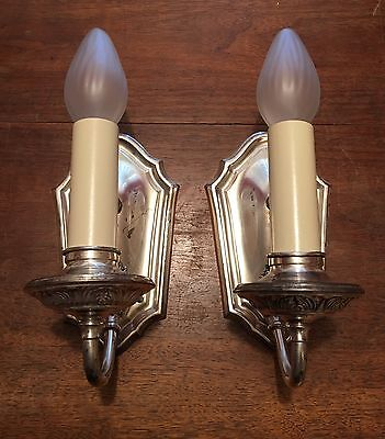 Vintage Antique Wall Sconces Matched Pair 5E