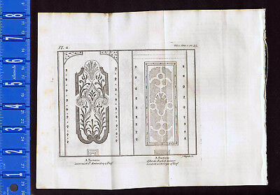 PATTERNS: Parterres after the English Manner - 1737 Pluche Engraving