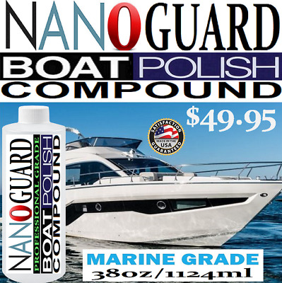 BOAT POLISH GEL Coat Marine Rubbing Compound Removes Scratches Stains  Oxidation