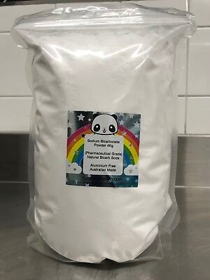 SODIUM BICARBONATE 4kg ☆COSMETIC GRADE☆COSMETIC☆BATH BOMBS☆SOAPS☆ FREE POST