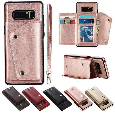Shockproof Wallet Credit Card Holder Case Cover Fr Samsung Galaxy S9/S8/Note 9/8