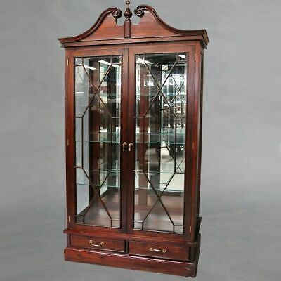 Solid Mahogany Wood 2 doors Display Cabinet Antique