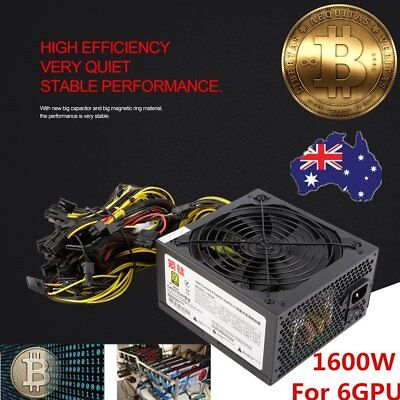 Power Supply For 6GPU Eth Rig Ethereum Coin Mining Miner Dedicated 1