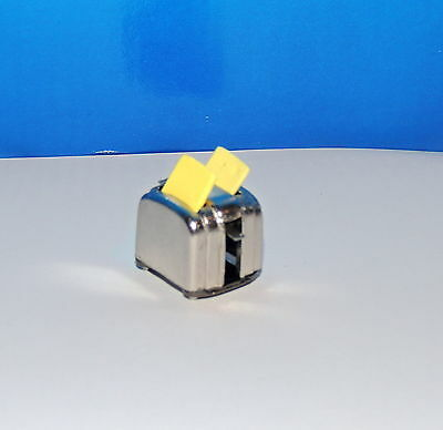 Stainless Steel Toaster With Two Slice Of Bread Miniature  1:12 Scale New !
