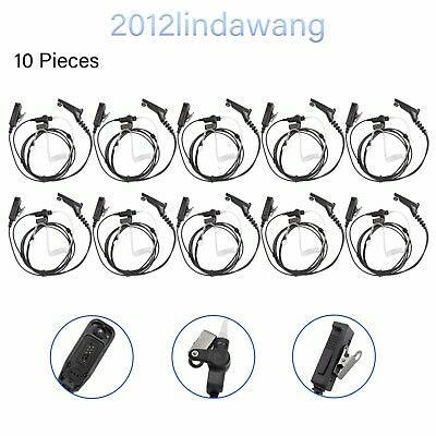 10PCS Headset Earpiece Mic Kit for Motorola XiR P8260 P8268 P8608 P8660 P8668