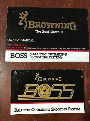 browning boss ballistic optimizing system factory owners manual rh picclick com Browning Boss CR Review Browning Boss Sweet Spot Chart