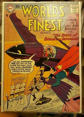 World's Finest 93 1958 Dc Batman Superman 5.5 - 6.0 F- - F