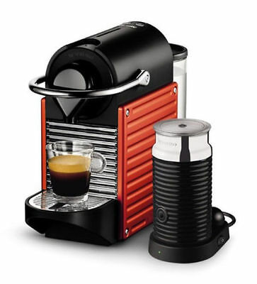 Breville BEC400XR Pixie Bundle Nespresso Coffee Machine - Red - RRP $349.00