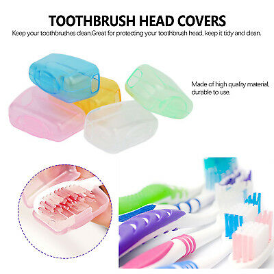 5 Portable Toothbrush head Cover Holder Travel Hiking Camping Brush Cap Case W8
