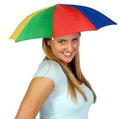 New Multicolor Portable Umbrella Hat Cap Sun Rain Fishing Camping W8