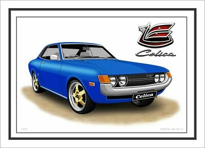 Toyota Celica  Lt  Ta22  Limited Edition Car Drawing Print  ( 7 Car Colours )