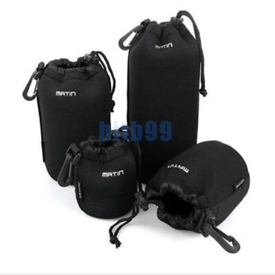 4X Neoprene DSLR Camera Lens Soft Protector Pouch Case Bag Set (S+M+L+XL) New ^^