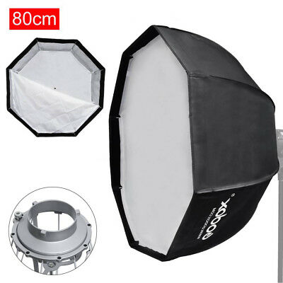 "Godox 32"" 80cm Octagon Umbrella Quick Setup Softbox Bowens Mount Flash Strobe"