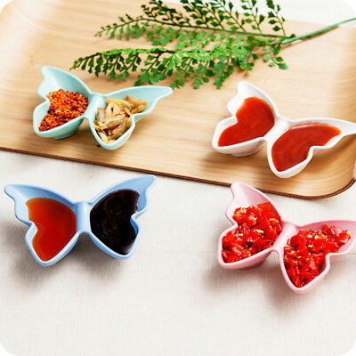 Wheat Straw Butterfly Shape Small Plate Food Snack Dish Sauce Plate Kitchen Tool