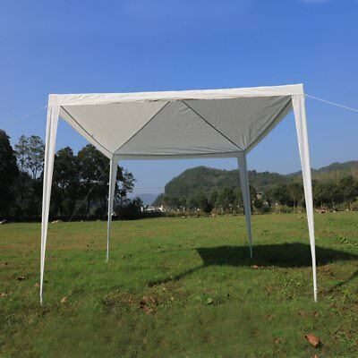 3Mx3M PE Garden Outdoor Gazebo Marquee Canopy Awning Party Wedding Tent UK