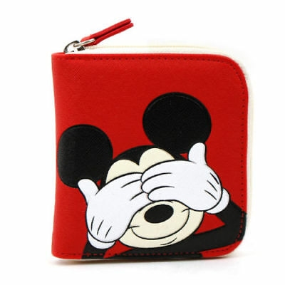 50649e1be99 disney mickey mouse red small wallet purse for coin money credit .