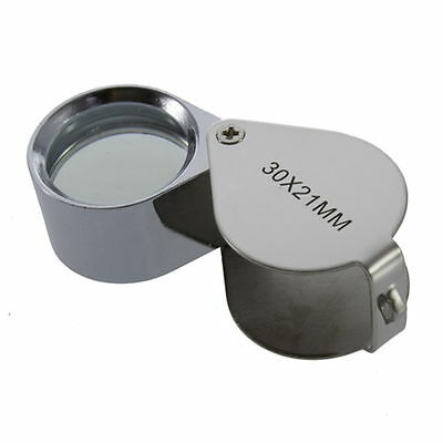 30X/40X Glass Magnifying Magnifier Jeweler Eye Jewelry Loupe Loop W8