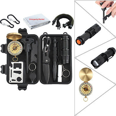 13PCS Multi-function Survival Emergency Outdoor Camp Light Survival Tool Kits