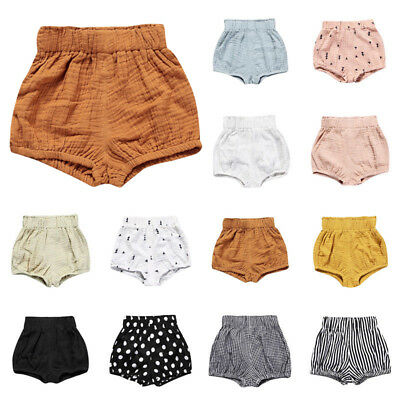 0-5Y Infant Baby Boy Girls Kids Cotton Pants Shorts Bottoms PP Bloomers Panties