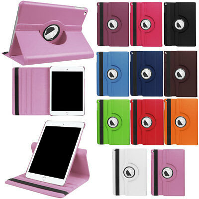 For Apple iPad 9.7 Inch 2017 5th Gen Hybrid Rugged Rubber Smart 360 Rotate Case