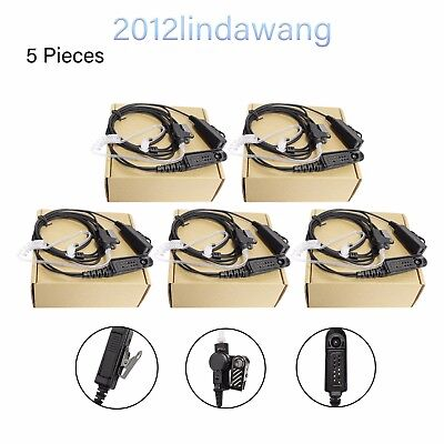 5* Mic Headset Earpiece for Motorola GP380 HT1250 MTX950 PRO5350 Two Way Radio