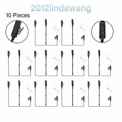10X Headset Earpiece Mic for Motorola GP329 GP580 GP338 MTX8250 PRO5550 PRO7550