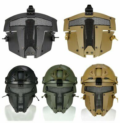 Sparta Full Face Mask Paintball Airsoft SPT Mesh Tactical Mask AF Helmet