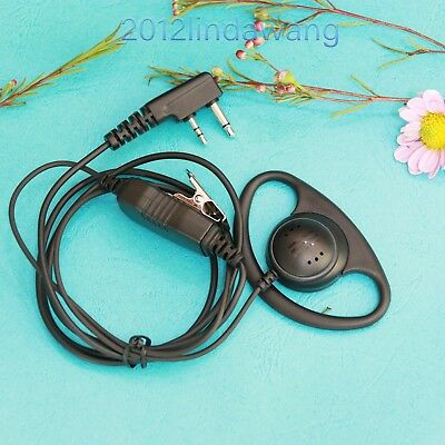 D Shape Earhook Earpiece Headset for ICOM V8 V80 V80E V85 IC-F3101 F4101 Radio
