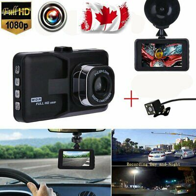 "3"" Dual Lens LCD Car DVR Camera Video Recorder Dash Cam G-Sensor NEWEST"