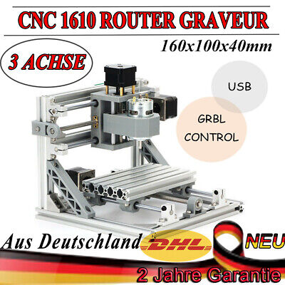 Mini 3 Axis Laser CNC 1610 Engraving Machine Pcb Milling Wood Carving Router NEW