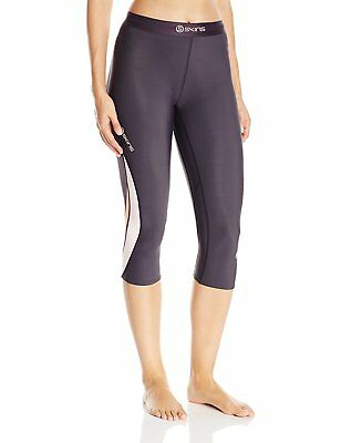SKINS Women's DNAmic Thermal Compression 3/4-Capri Tights, Dove Grey, Large