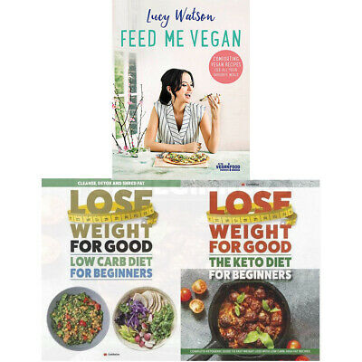 Feed Me Vegan Keto Diet Recipes Lucy Watson Cookbook 3 Books Collection Set NEW