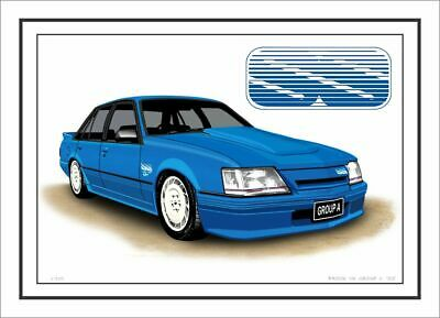 Brock Vk  Group 3 Ss  Commodore Limited Edition Car Drawing Print (3 Car Colours