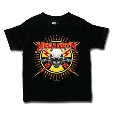 Megadeth Skull & Bullets Kids T Shirt Ofcl Boys Girls Toddler Tshirt T-shirt