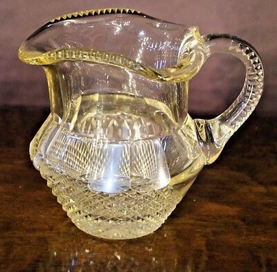 Superb antique cut glass Irish jug pitcher 1800s late Georgian Regency original
