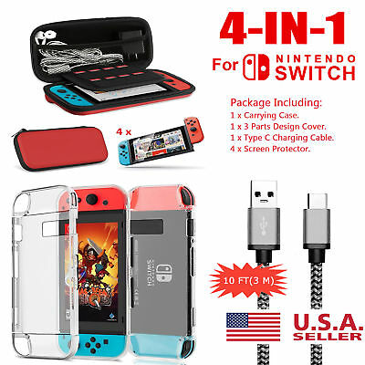 For Nintendo Switch Travel Carrying Case Bag,Screen Protector,Cover Accessories