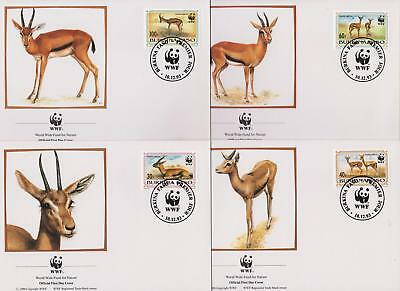 Burkina Faso 1993 Red-fronted Gazelle - Deer - 4 First Day Covers - (91)
